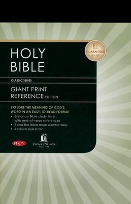 NKJV Personal Size Giant Print Reference Bible, Hardcover, Black   -