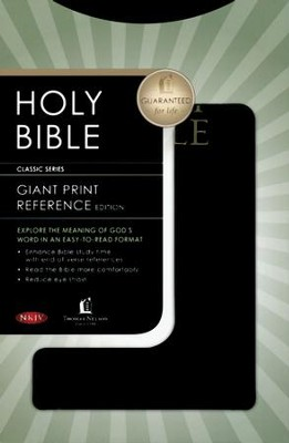 NKJV Personal Size Giant Print Reference Bible, Black Imitation Leather  -