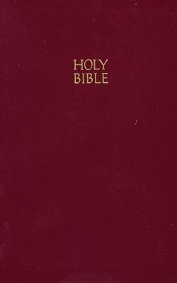 NKJV Personal Size Giant Print Reference Bible, Burgundy  Imitation Leather - Slightly Imperfect  -