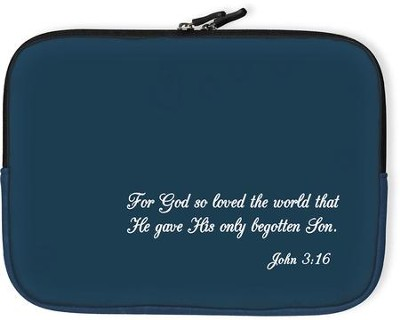For God So Loved the World Bible Cover, Blue, Large  -
