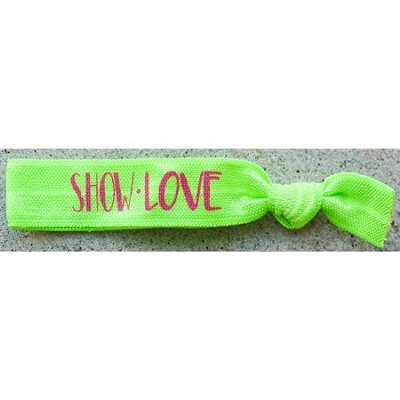 Show Love Hair Tie Bracelet, Green  -