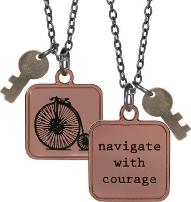Navigate With Courage, Charm Pendant  -