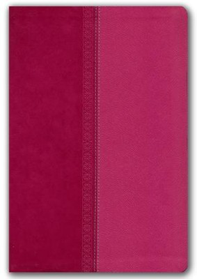 NKJV Large Print Ultraslim Reference Bible, Leathersoft Raspberry Pelt Indexed  -