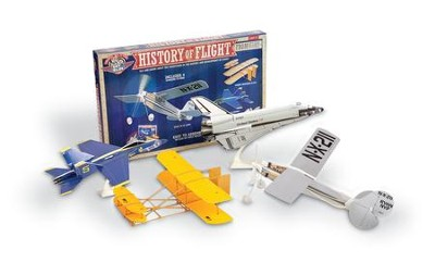 History Of Flight Kit, with 4 Retro Model Planes  -