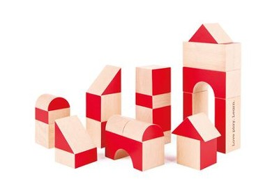 Special 30th Anniversary Edition, Geometric Wooden Blocks, 30 pieces  -