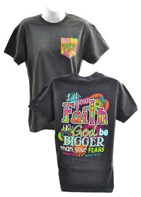 Big Faith Shirt, Gray, XX-Large  -