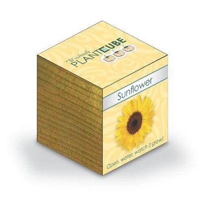 Ecofriendly Plant Cube, Indoor Grow Kit, Sunflower  -