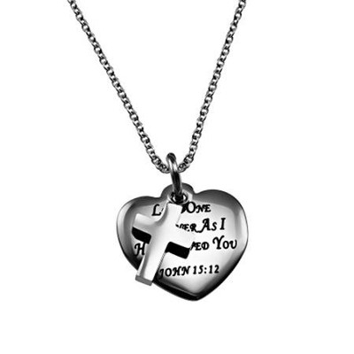 Love One Another, Sweetheart Necklace   -