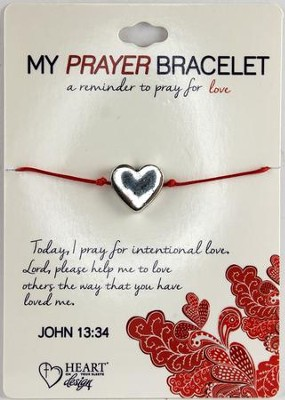 Prayer Bracelet, with Heart  -