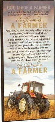 God Made a Farmer, Mounted Print   -