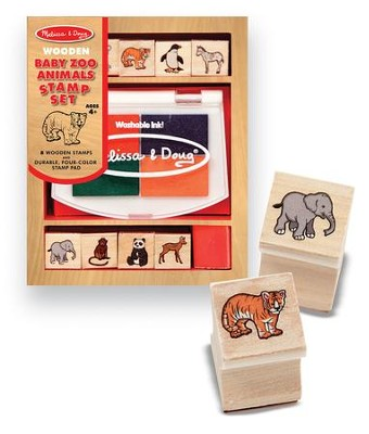 Baby Zoo Animals Stamp Set  -