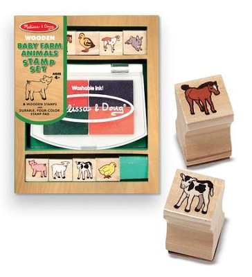 Baby Farm Animals Stamp Set  -