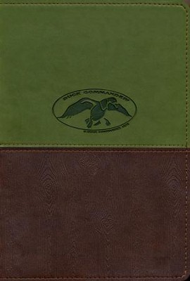 NKJV Duck Commander Faith & Family Bible, Soft  leather-look, Green/Brown  -     By: Phil Robertson