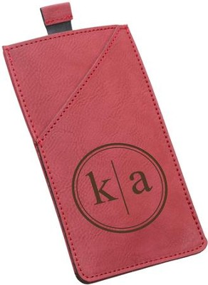 Smart Phone Case, Faux Leather, Red  -