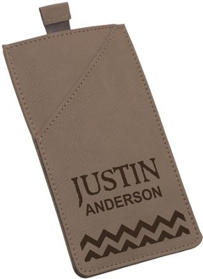 Smart Phone Case, Faux Leather, Brown  -