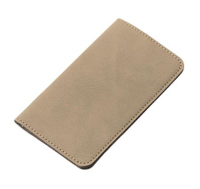 Wallet, Faux Leather, Large, Tan   -