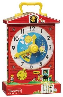 Fisher Price Music Box Teaching Clock   -