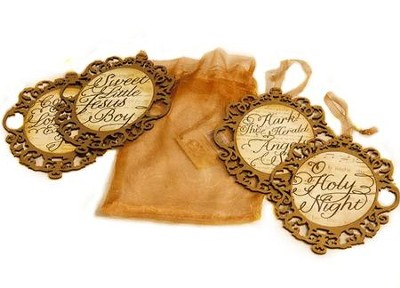 Adore Hymns Ornament Collection 4-pack   -     By: Barbara Rainey