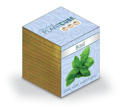 Ecofriendly Plant Cube, Indoor Grow Kit, Basil  -