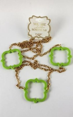 Quatrefoil Necklace, Green  -