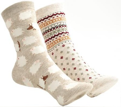 Sheep & Chevron Mix and Match Socks  -