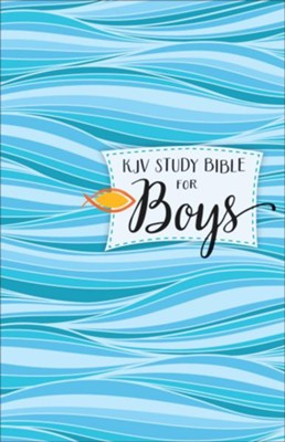KJV Study Bible for Boys, hardcover  -