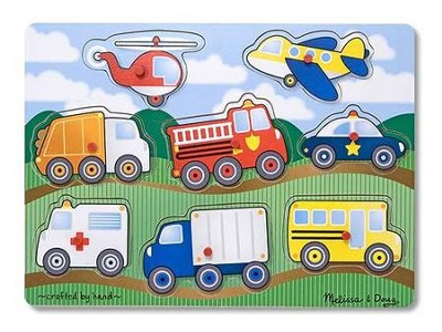 Vehicles Peg Puzzle  -