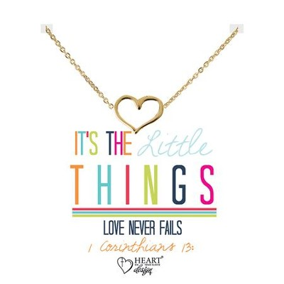Heart Necklace, 1 Corinthians 13  -