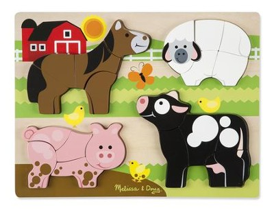 Chunky Jigsaw Puzzle, Farm Animals, 20 pieces  -