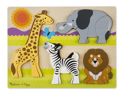 Chunky Jigsaw Puzzle, Safari, 20 pieces  -