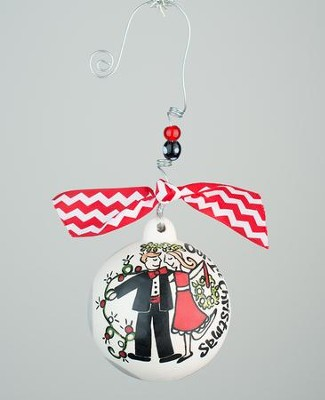 Our 1st Christmas Ball Ornament  -