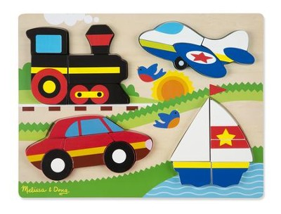 Chunky Jigsaw Puzzle, Vehicles, 20 pieces  -
