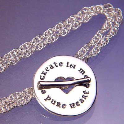 Create In Me a Pure Heart, Sterling Silver Bracelet   -