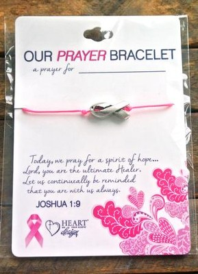 Breast Cancer Bracelet, Ribbon  -