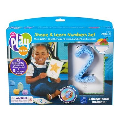 Playfoam Shape & Learn Numbers Set  -