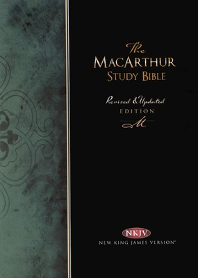 NKJV MacArthur Study Bible - Revised & Updated  Black Bonded Leather, Thumb Indexed  -     By: John MacArthur
