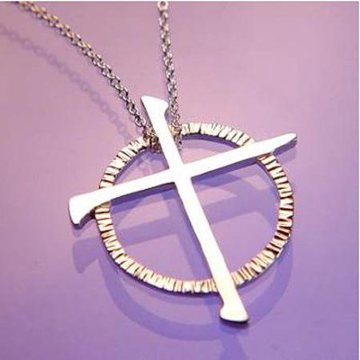 Celtic Nail Cross Pendant  -