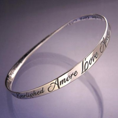 Love in Many Languages Mobius Bracelet  -