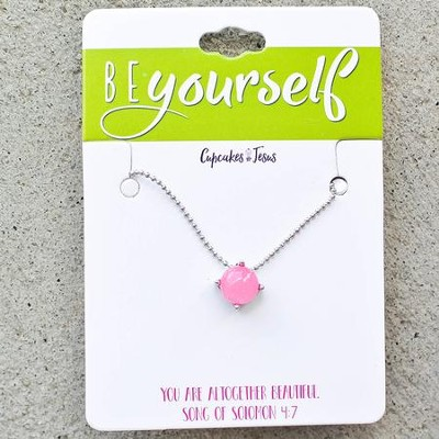 Be Yourself Stone Necklace, Pink  -