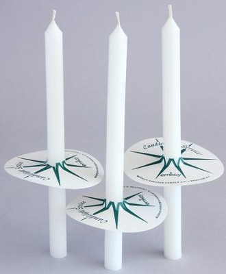100 Long Congregation Candles with Drip Protectors   -