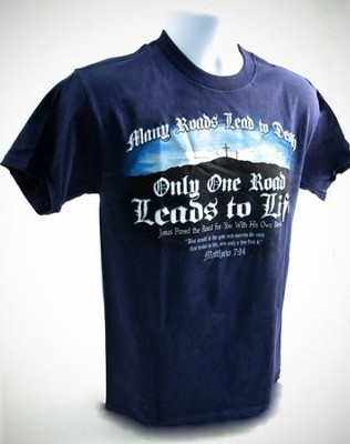 Only One Road Shirt, Blue, Medium  -