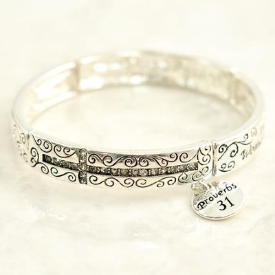 Woman of God Proverbs 31 Stretch Bracelet   -