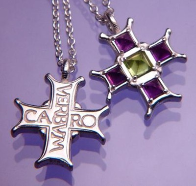 Medieval Verbum Caro, Sterling Silver Cross Necklace   -