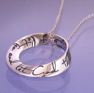 Let Go And Let God, Sterling Silver Mobius Necklace  -