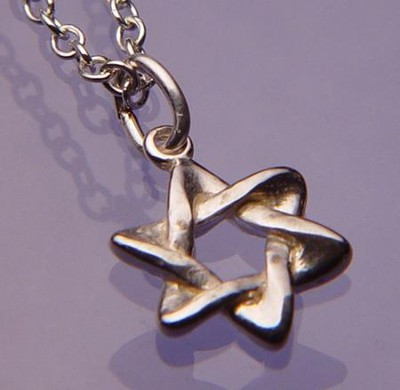 Star of David--Sterling Silver Necklace   -
