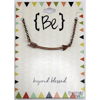 Be Beyond Blessed Bronze Arrow Necklace  -