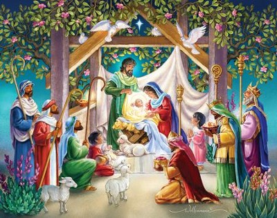 Magi at the Manger Christmas Cards , 15 Cards  -