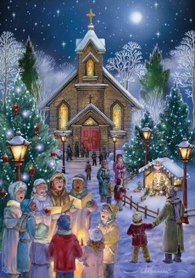 Midnight Mass Christmas Cards , 18 Cards  -