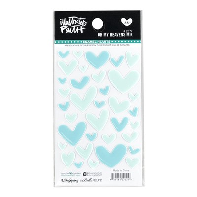 Oh My Heavens, Heart Stickers, Light Blue  -     By: Shanna Noel