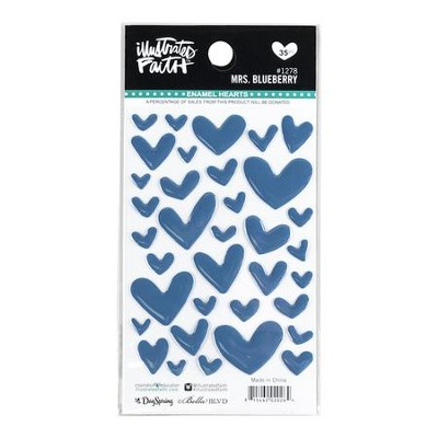 Mrs. Blueberry, Heart Stickers, Navy  -     By: Shanna Noel